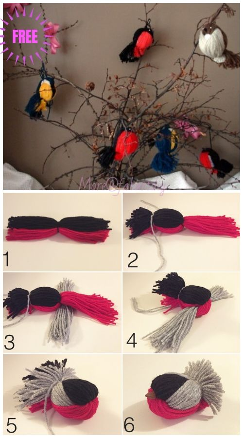 Kids Craft: Fun Yarn Birds DIY Tutorial - Video #diytutorial