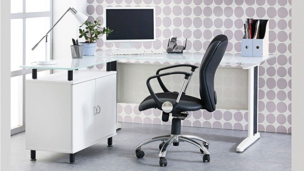 Pretty cool. Apex 1600mm Office Desk - White - Desks & Suites - Home ...