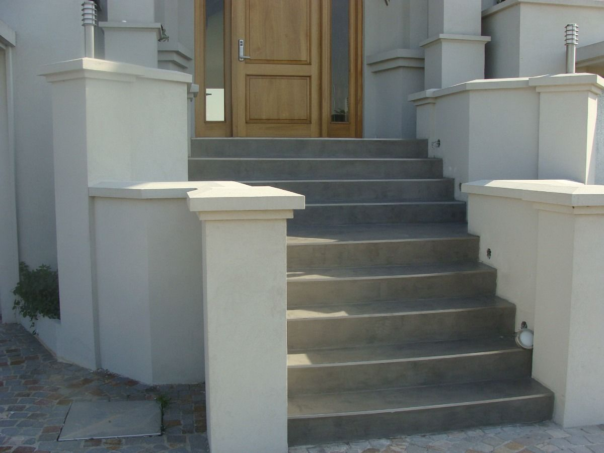 Escalera en cemento alisado buscar con google for Escalera de cemento con descanso