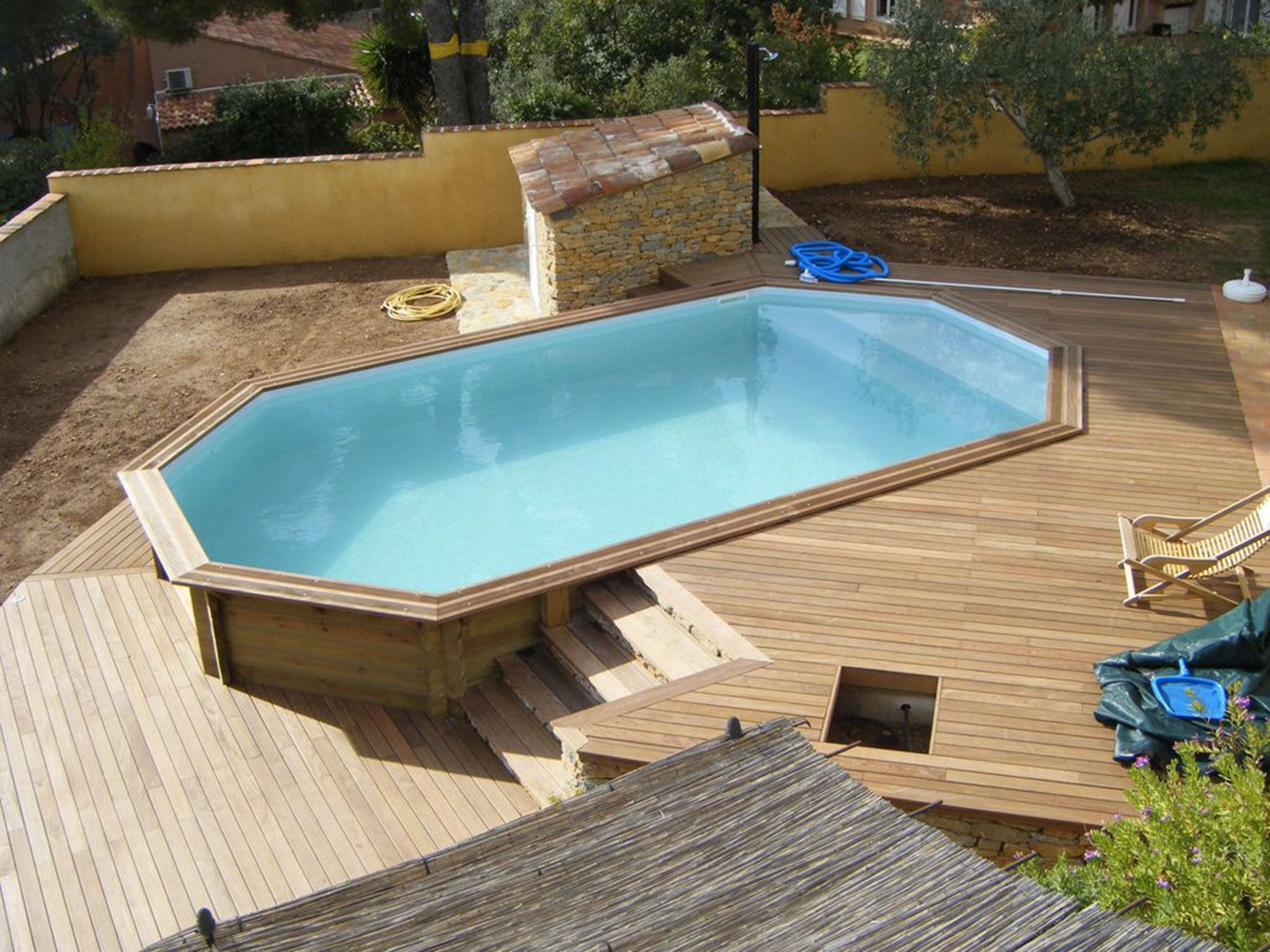 Infos sur piscine jardin rectangle pas cher arts et for Piscine jardin rectangle
