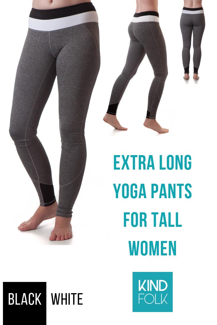 Extra Long Yoga Pants For Tall Women Black White Long Yoga Pants Yoga Pants Tall Women