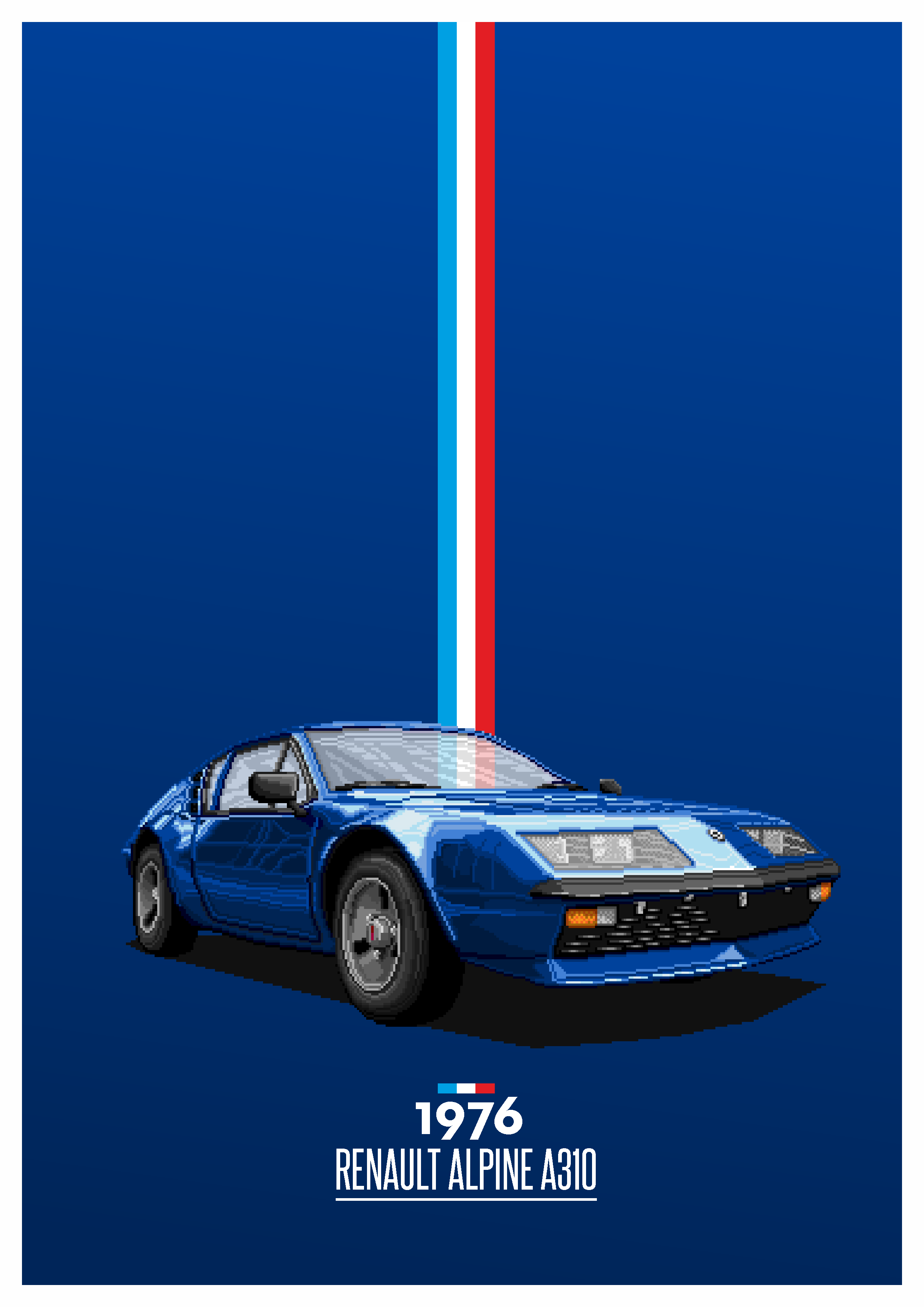 1976 Pixel Handcrafted Renault Alpine A310 1976 French Cars