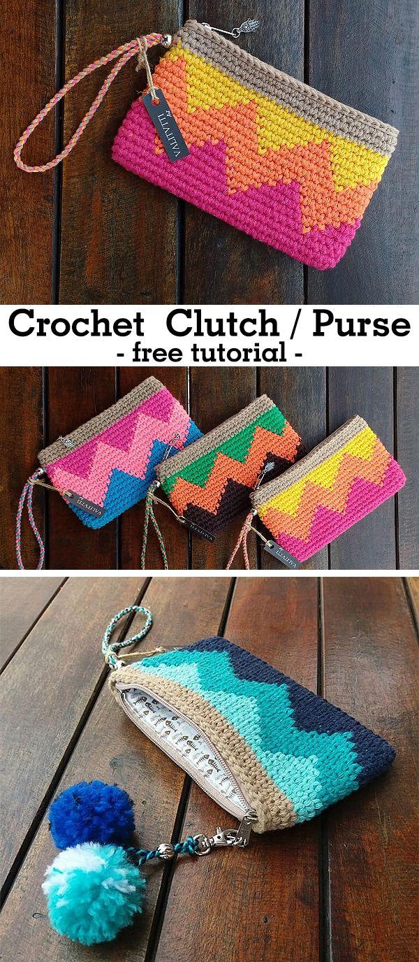 Clutch - CROCHET-HUB #tejidos