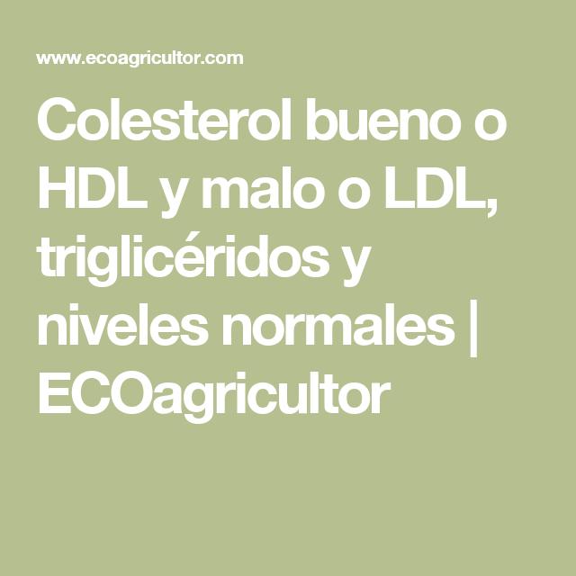 Niveles normales de colesterol ldl hdl
