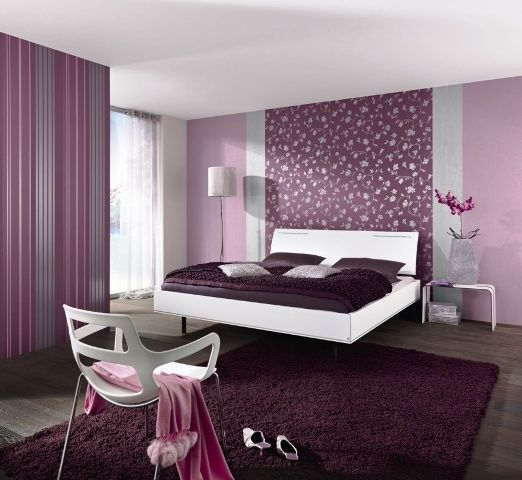 Déco intérieur violet   idée déco chambre adulte violet   Idees Deco ...