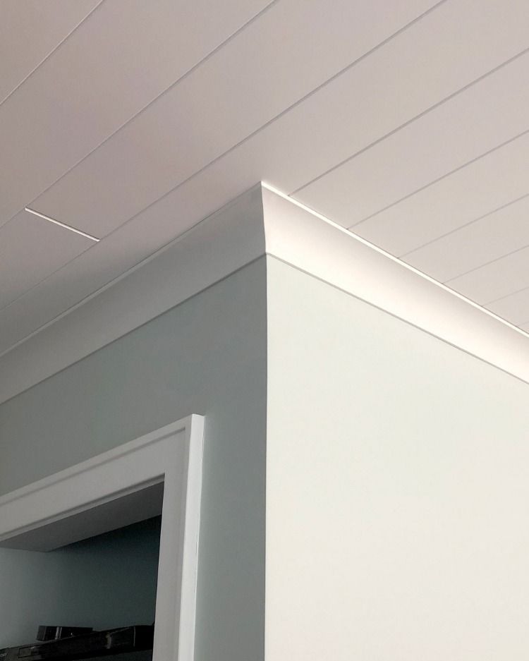 Cove Crown Molding Compliments Plank Ceiling Cove Crown Molding Plank Ceiling House Trim