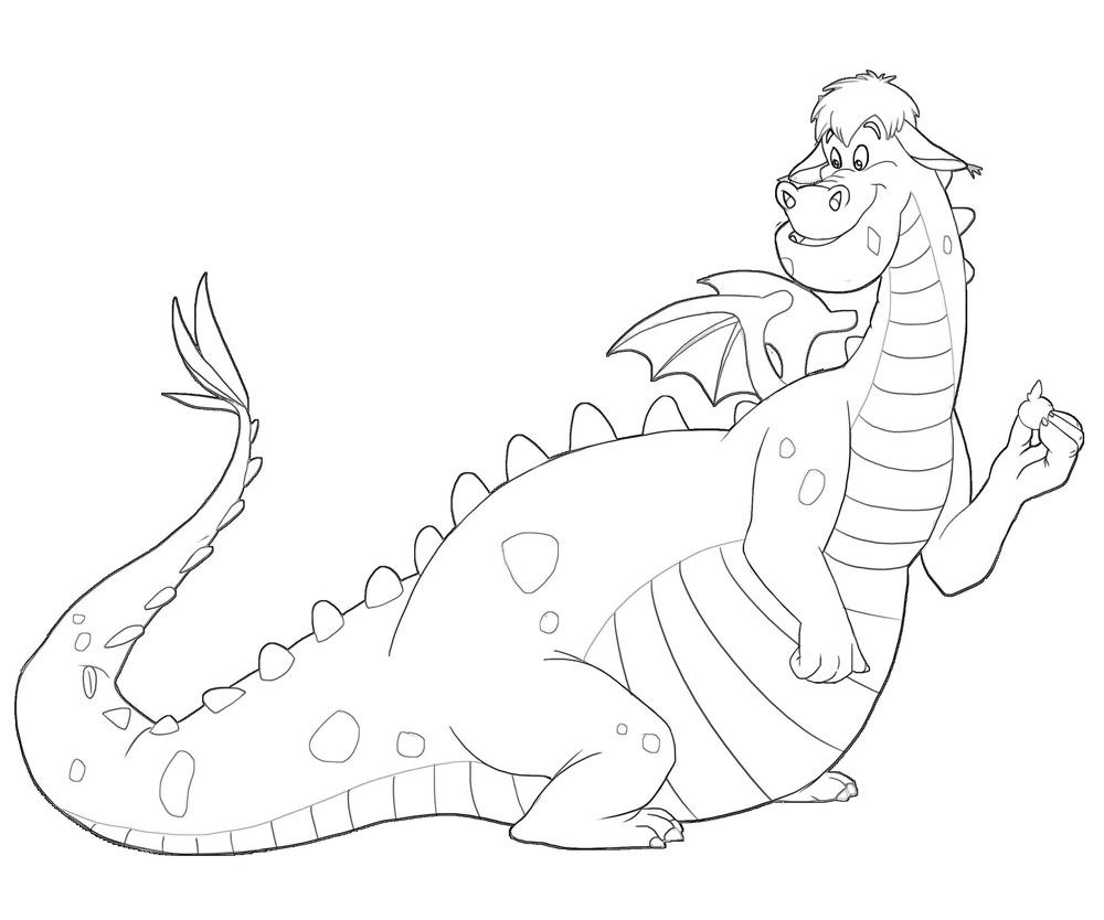 pete dragon printable coloring pages