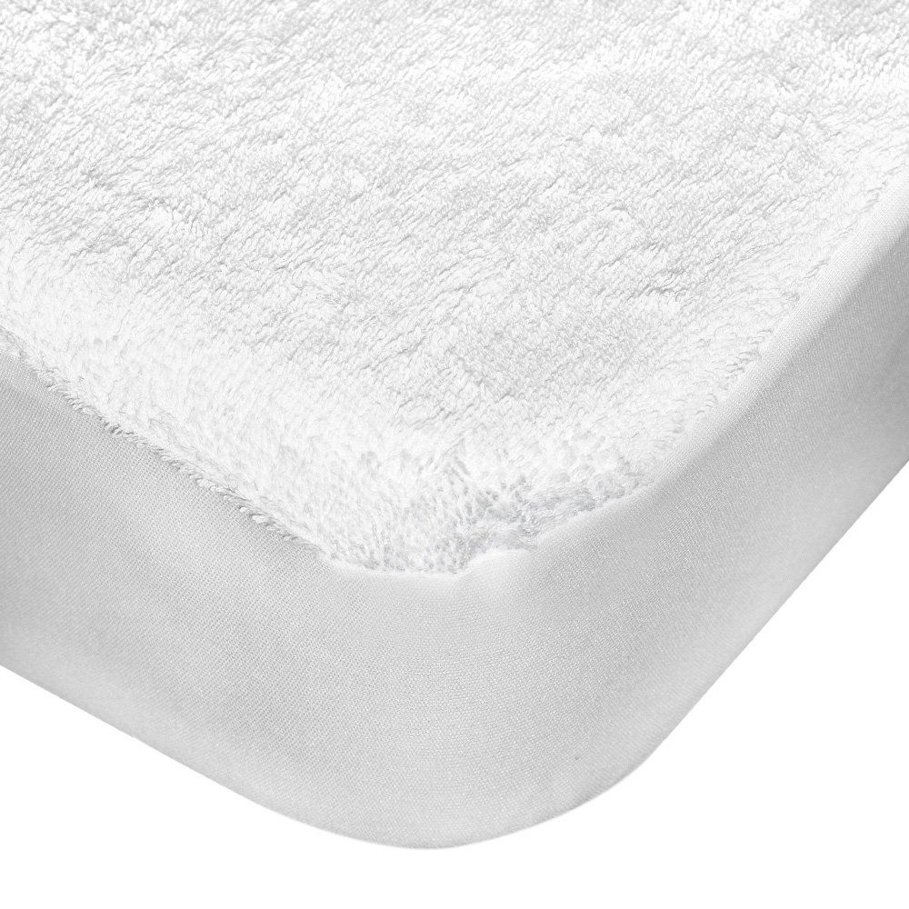 Amazon Com Quirky Bubba Keep Me Dry White Terry Cloth Fitted Waterproof Crib Mattress Pad Prot Mattress Protector Waterproof Mattress Crib Mattress Protector
