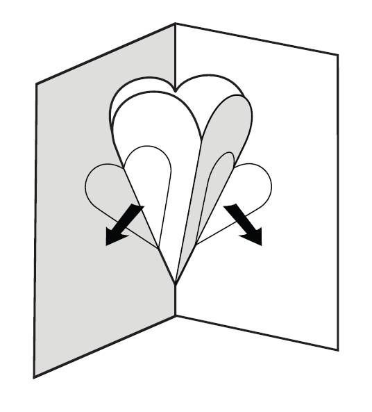 Make a pop-up card of hearts - All - English