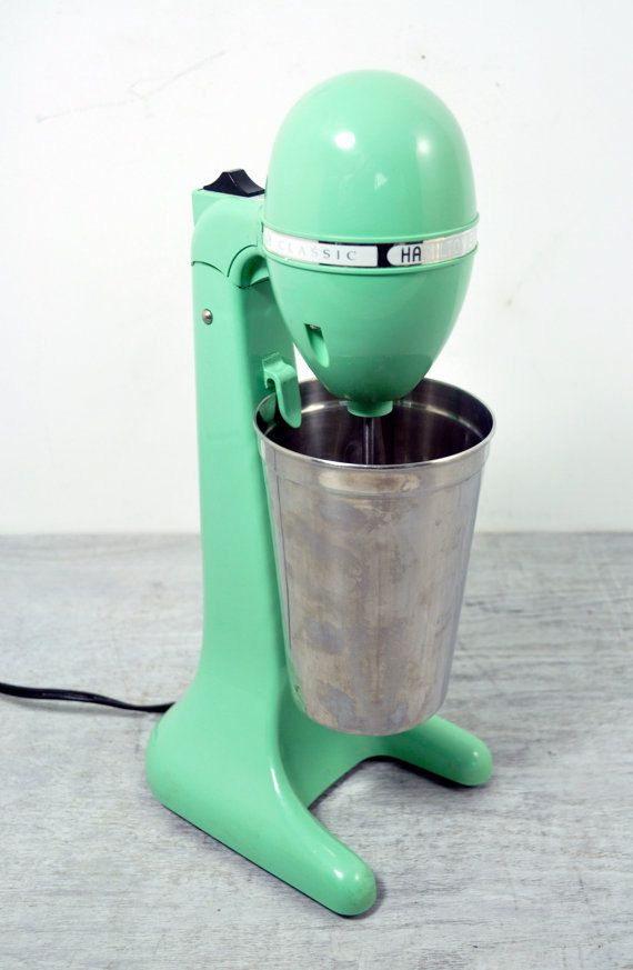 On the limitless list of gadgets I don't need: vintage milkshake blender by Hamilton Beach.