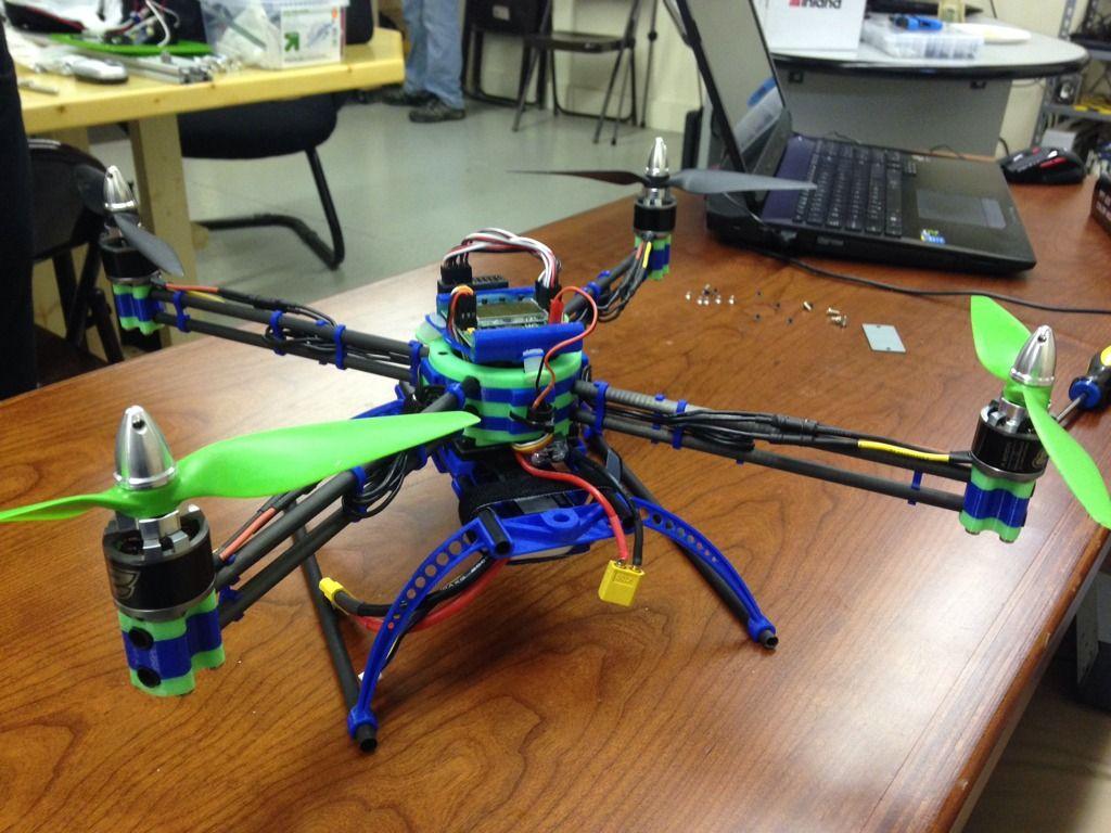 3D Printed & Carbon Fiber QuadCopter Quadcopter, Carbon