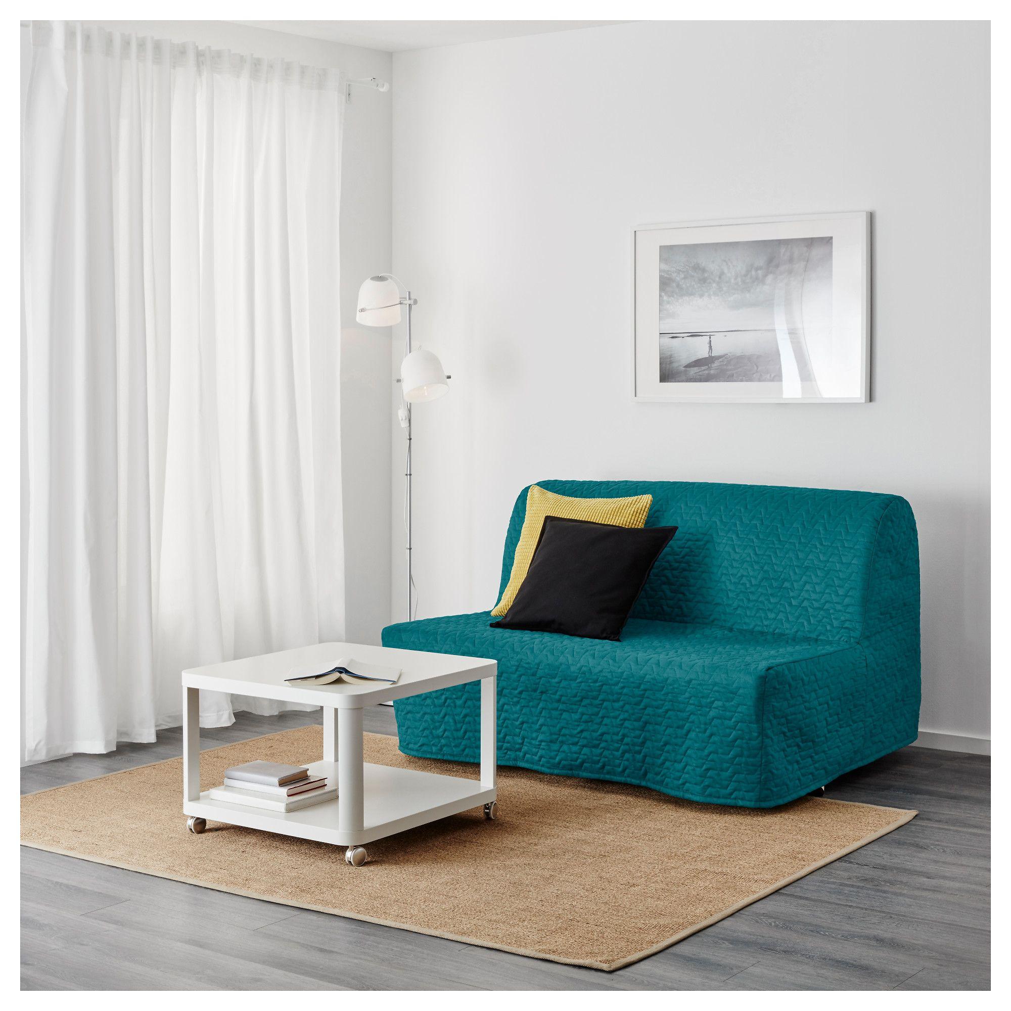 Lyksele Slaapbank Ikea.Futon Lycksele Lovas Vallarum Turquoise Mamatawe Foam Sofa Bed