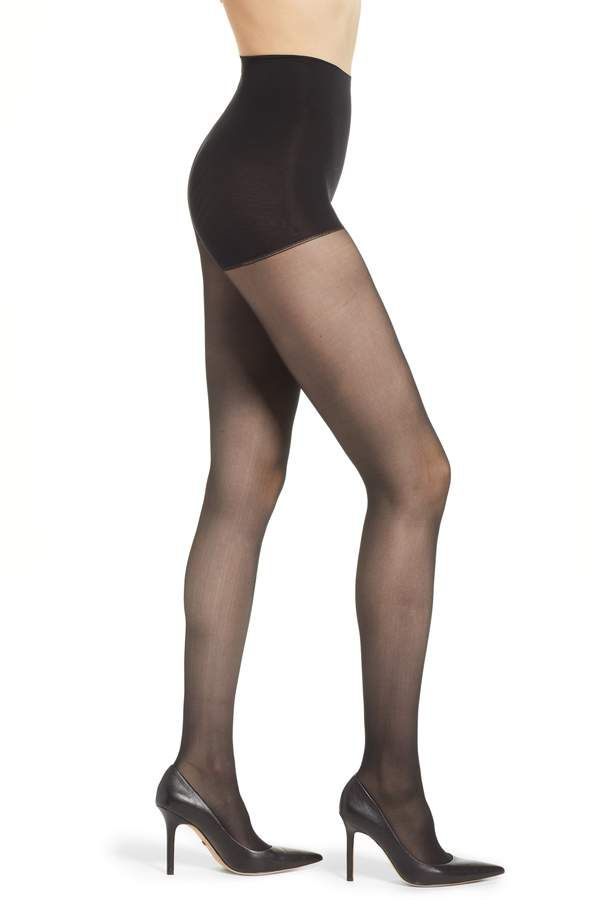 4385ae119a477 Women's Dkny Light Opaque Control Top Tights, Size Small - Black in ...