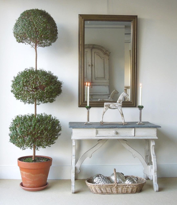7' tall myrtle topiary Elegant christmas decor, Interior