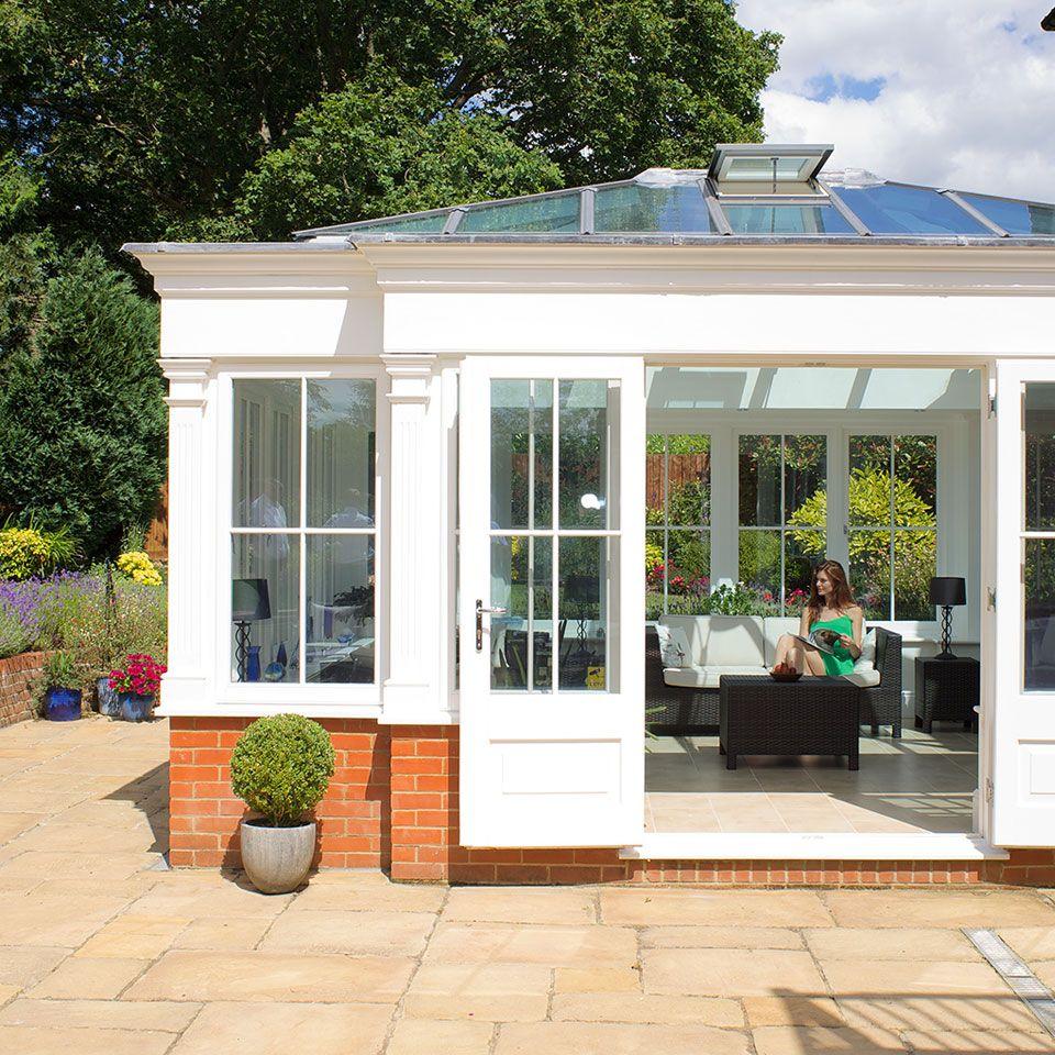 Small Modern House Interior Design: Aluminium Orangery House Extension