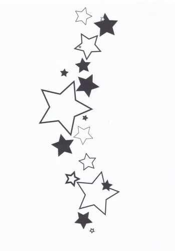 Tatuaże Wzory Gwiazdki 792 Ana Star Tattoos Star Tattoo