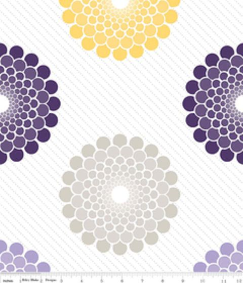 Purple Grey Yellow Main Fabric Ashbury Riley Blake