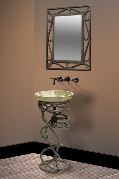 Bon Unique Vanity. DreamLine Wrought Iron Vine Sink Stand Primitive Bathrooms  ...