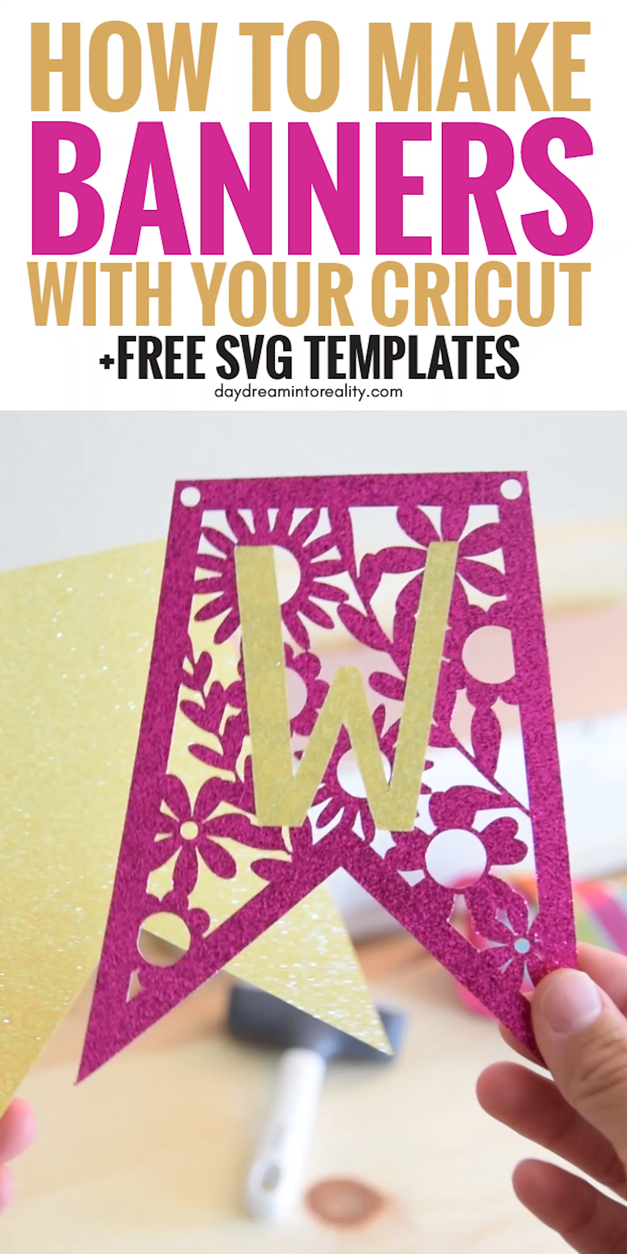 Make Spectacular Banners with your Cricut (Free SVG included)