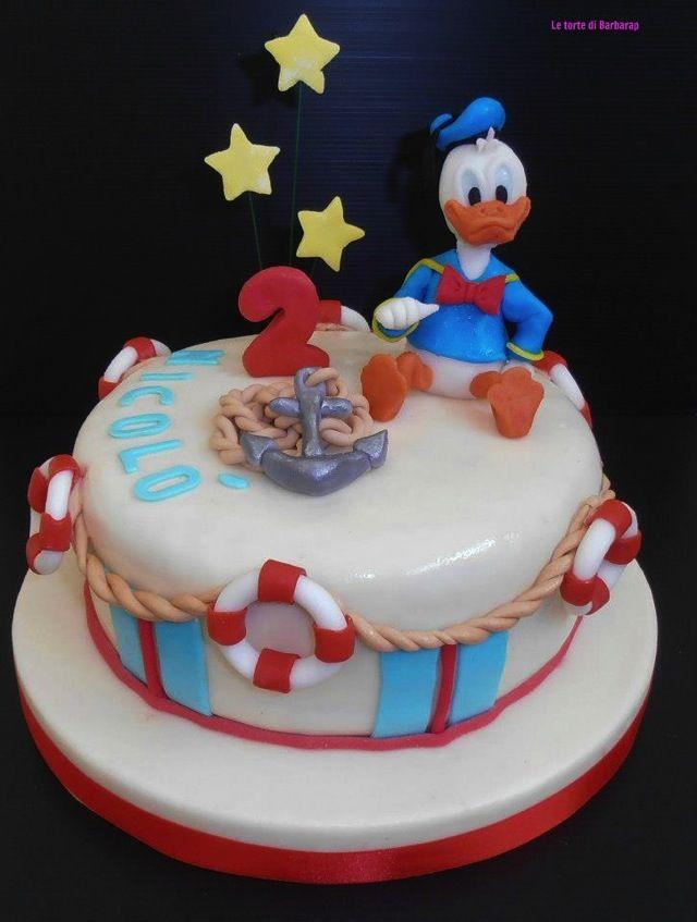 Donald Duck Nautical 2nd Birthday Cake Its Donald Duck Day