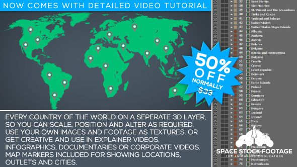 World map kit motion graphics design inspiration and graphics world map kit by spacestockfootage world map kitworld map kit is a handy after effects project gumiabroncs Image collections