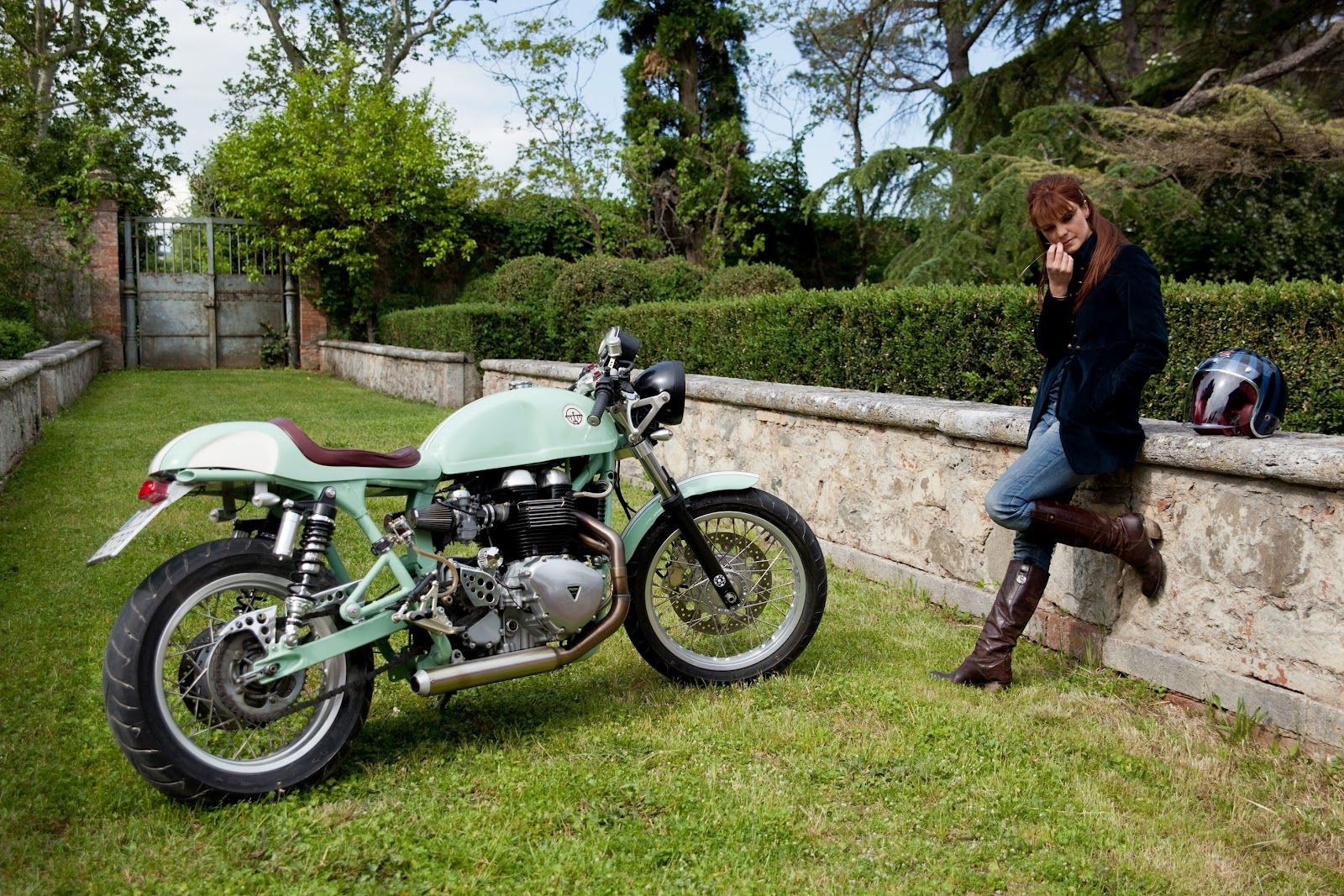 Hinckley Triumph Milonga by Cafe Twin