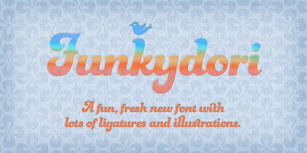 Funkydori by Laura Worthington, via Behance New fonts