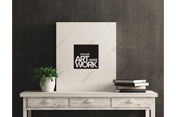Download Canvas Mockup White Wood Distressed Poster Mockup Mockup Free Psd Mockup