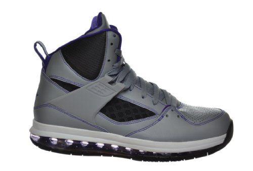 new arrival 211e9 d62d7 Jordan Flight 45 High Max Men s Basketball Shoes Grey Purple Black White  Grey Black White 524866-008-7.5