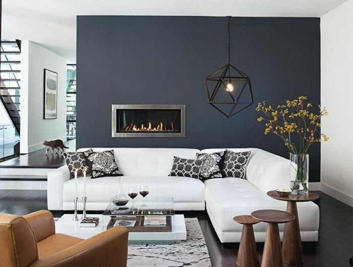 le gris anthracite en 45 photos d 39 int rieur d co int rieur home decor living room modern. Black Bedroom Furniture Sets. Home Design Ideas