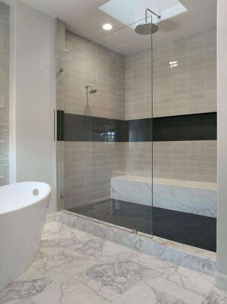 Sand Bottom Pool Bathroom Contemporary With Sky Light San
