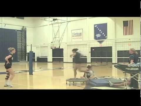Tramoline Hitting University Of New Hampshire With Images University Of New Hampshire Volleyball Volley