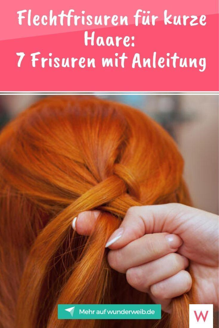 flechtfrisuren für kurze haare: 7 frisuren mit anleitung