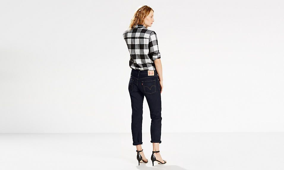 For 100 years, the Levi's® brand has partnered with Cone Mills denim in North Carolina. To celebrate, we have created an iconic piece 100% made in the USA. Handcrafted with premium selvedge denim, and cut and sewn in the States. The Levi's® 501® jeans became the standard to which all other workwear would be held against, creating a whole new category of clothing — the Blue Jeans.