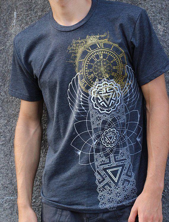 350dbb6e89de Eternal Time x Manipura Chakra Shirt - Men s Sacred Geometry Clothing