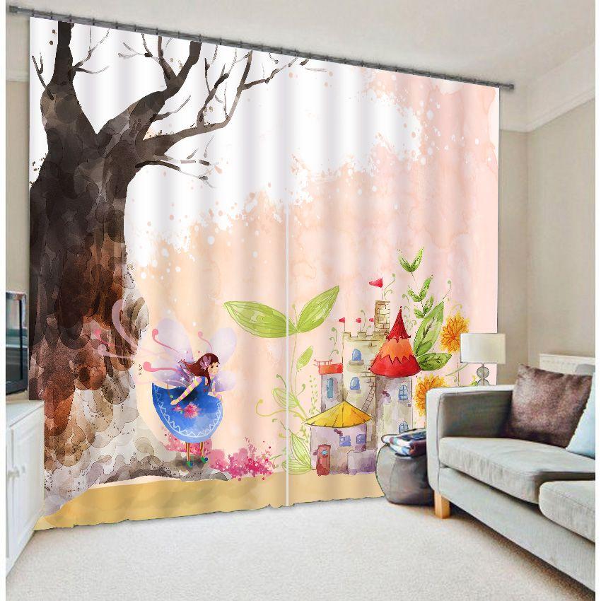 Schicken Mehr Vorhänge Information über Wunderbare Märchen Drucken - moderne wohnzimmer vorhange