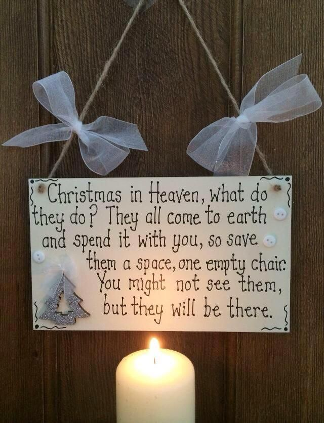 For Missing Someone At Christmas Time Quotes Christmas In Heaven