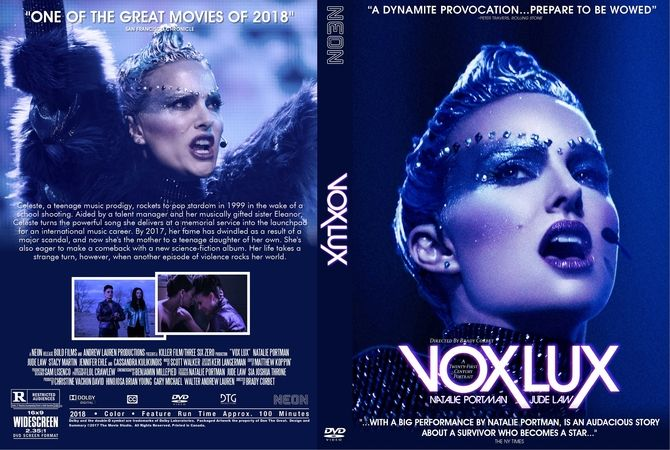 Vox Lux (2018) DVD Custom Cover Dvd cover design, Custom