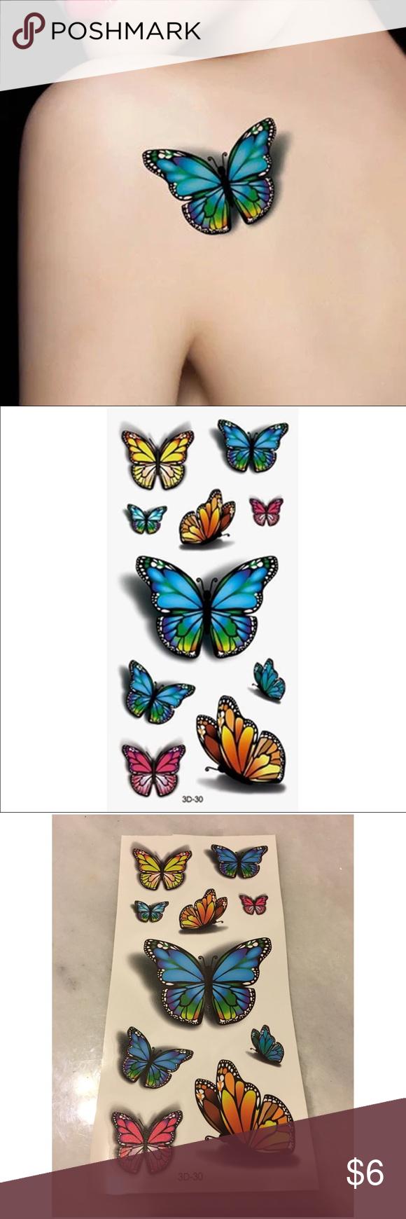 item 🎀 3D butterfly temp tattoo 10 butterfly temporary
