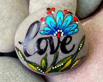 Follow Your Heart II / Painted Stone / Sandi por LoveFromCapeCod