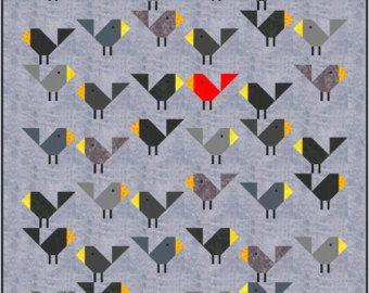 Dog Gone Cute Quilt Pattern, PDF, Instant Download, modern ... : modern patchwork quilt designs - Adamdwight.com