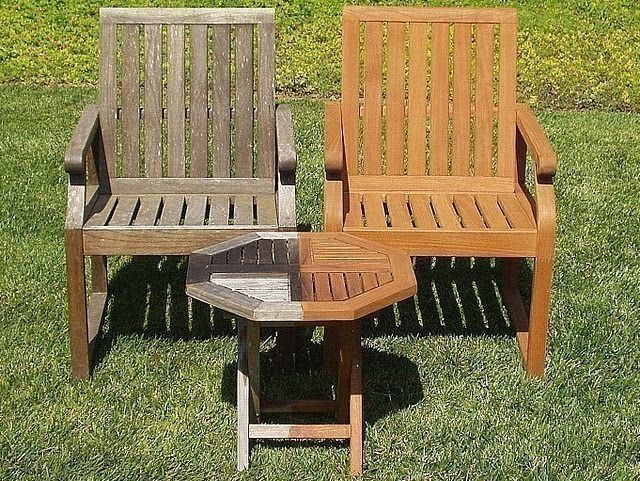Our Process Cleaning Grey Mold Dirt And Stains Are Removed Using A Biodegradable Cleaner Outdoor Wood Furniture Teak Outdoor Furniture Teak Patio Furniture