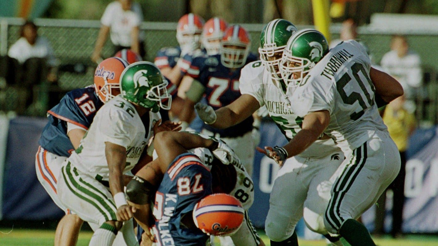 20 Years Later Michigan State S Epic Citrus Bowl And Unforgettable 1999 Season Still Resonates With Nick Saban Tom Izzo And Msu S Players In 2020 Michigan State Football Michigan State Nick Saban