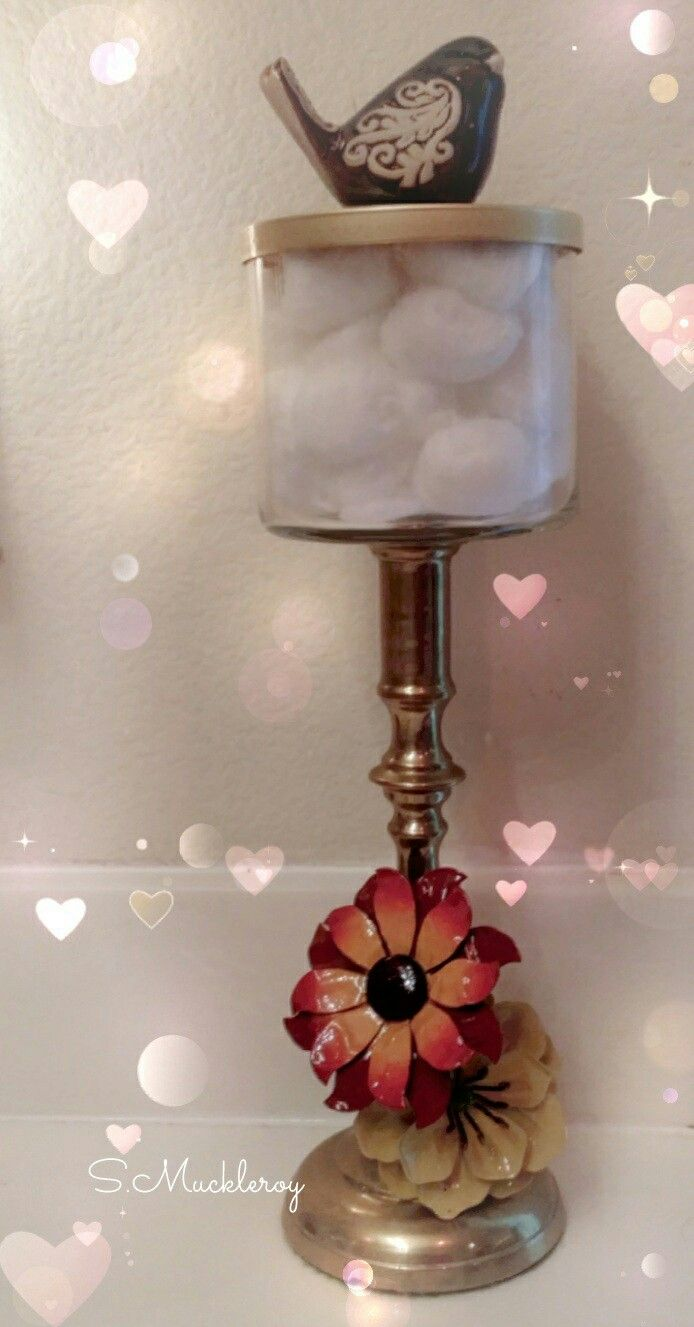 Cotton Ball Dispenser Bath And Body Works Empty Candle
