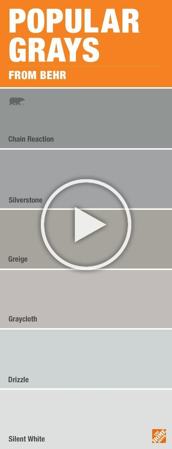 Don't be overwhelmed by paint color choices. Here are some of the most popular shades of gray from BEHR. See these paint colors at The Home Depot paint desk.. Living Room Ideas Grey |  Living Room Designs Small Spaces  | Living Room Ideas Grey | Living Room Ideas Grey. #interiors #Farmhouse paint colors. Visit the image link for more details.