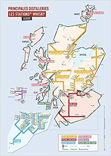"""Carte des whisky """"stations"""" Ecosse 50 x 70 cm PDF Gratuit"""