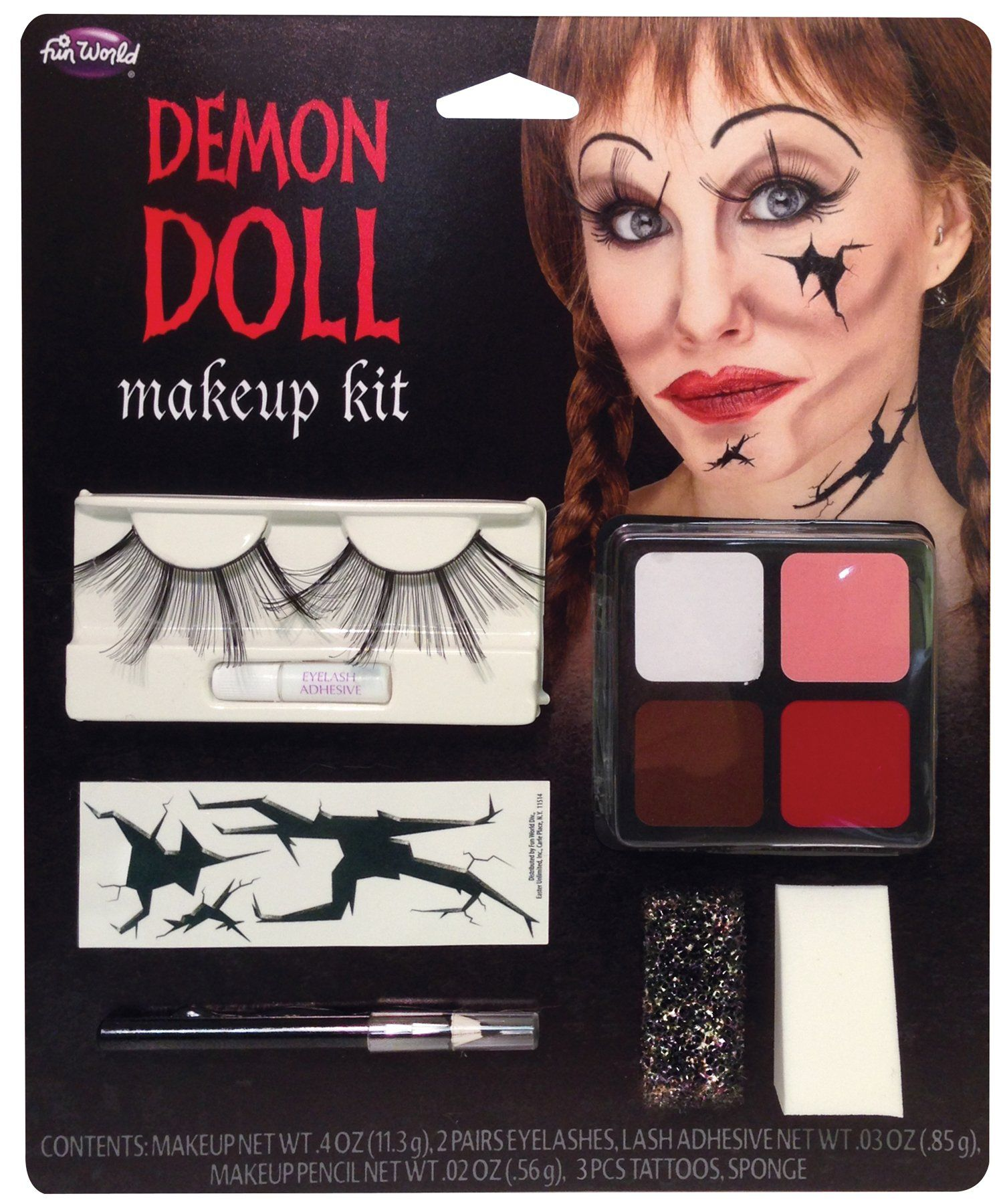 4fea43c2a14 Demon Doll Face M-U Kit | Products | Face makeup kit, Doll face ...