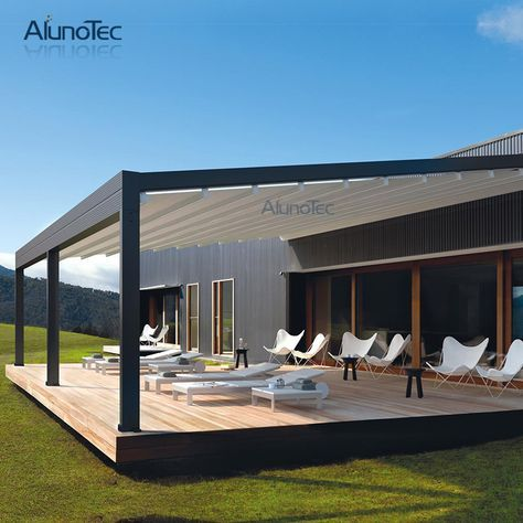 Retractable Canvas Pergola With Retracted Fabric Roof Find Complete Details About Retractable Canvas Pergola Wit Outdoor Awnings Outdoor Pergola Pergola Cost