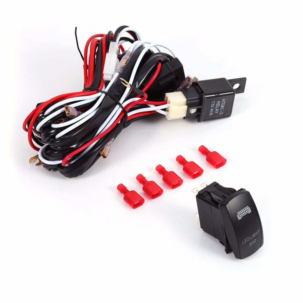 Car Styling Led Light Bar 0n Off Laser Rocket Switch 20a Automotive Wiring Looms Relay Fuse Harness Loom Kit