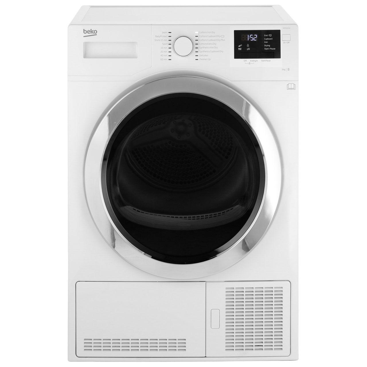 Beko Dcr93161w 9kg Condenser Tumble Dryer White B Rated